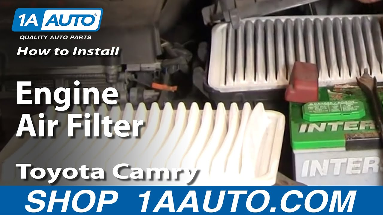 How To Replace Engine Air Filter 02-06 Toyota Camry
