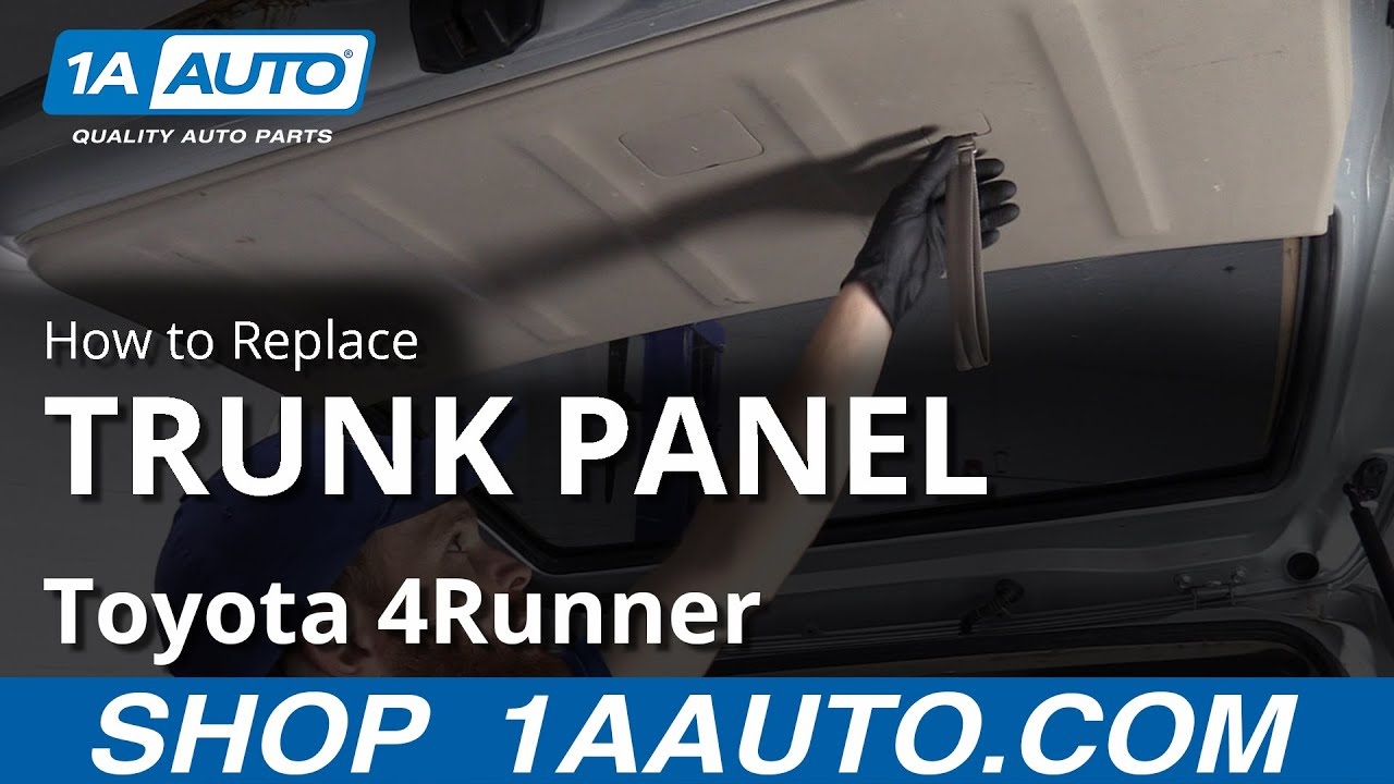 How to Remove Trunk Panel 03-09 Toyota 4Runner