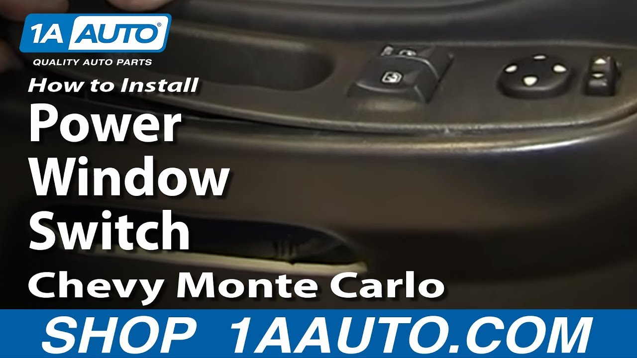 How to Replace Power Window Switch 00-05 Chevy Monte Carlo