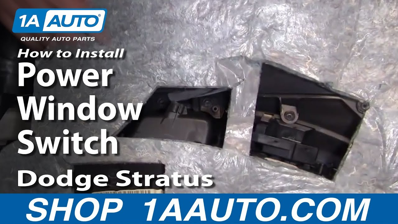 how to replace power window switch 01-06 dodge stratus