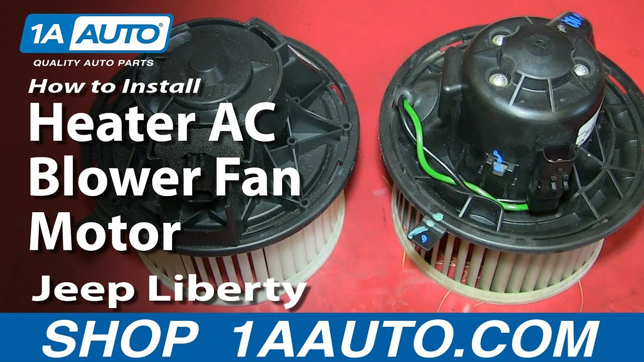 How to Replace Heater Blower Motor 02-07 Jeep Liberty