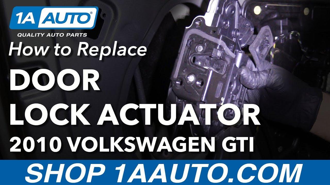How to Replace Door Lock Actuator Latch 06-10 Volkswagen GTI