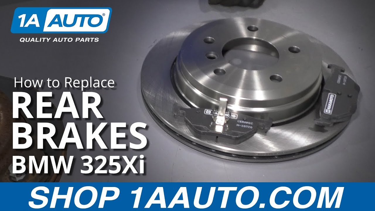 How to Replace Rear Brakes 01-05 BMW 325Xi