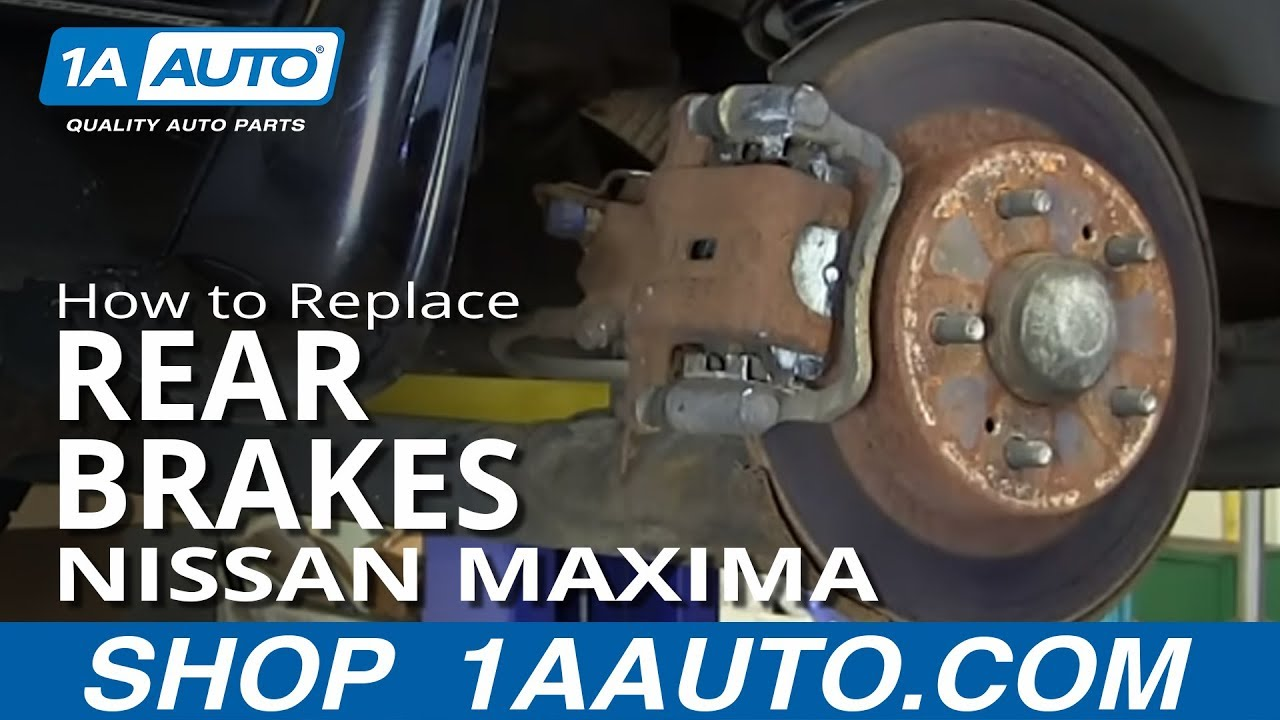 How to Replace Rear Brakes 01-03 Nissan Maxima