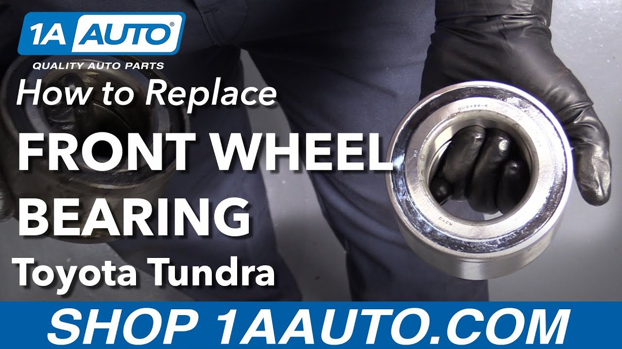 How to Replace Front Wheel Bearing 00-06 Toyota Tundra