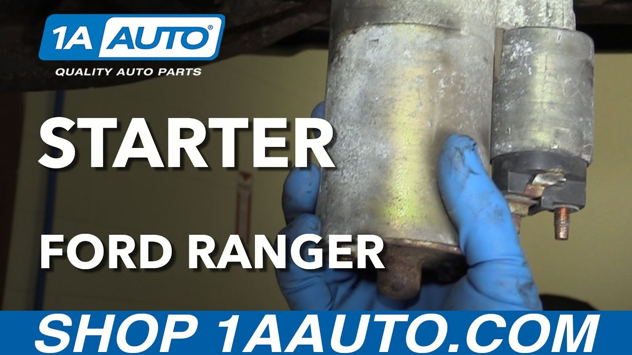 How to Replace Engine Starter 97-04 Ford Ranger