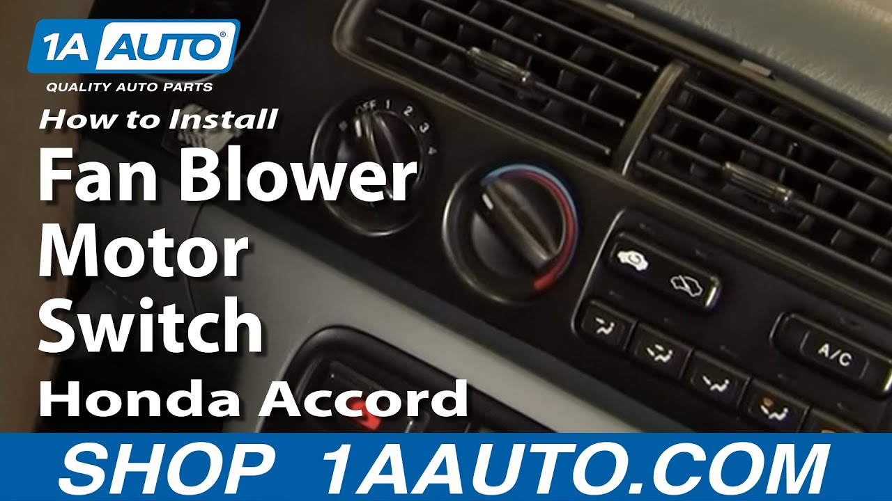 How to Replace Heater Fan Control Switch 90-96 Honda Accord