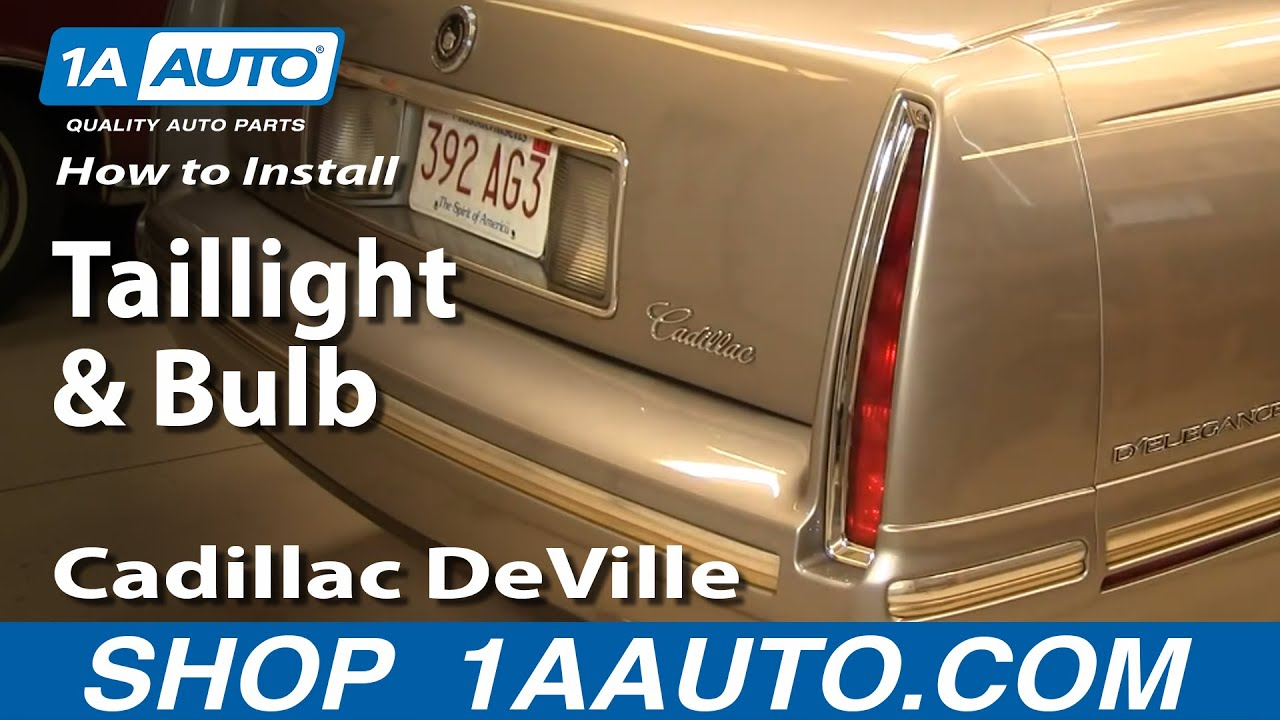 How to Replace Tail Light and Bulb 94-99 Cadillac Deville