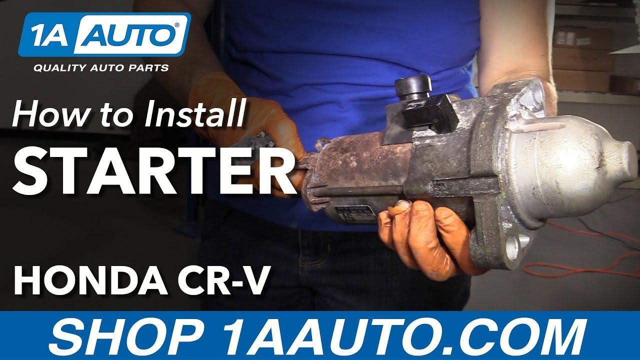 How to Replace Starter 2007-11 Honda CR-V