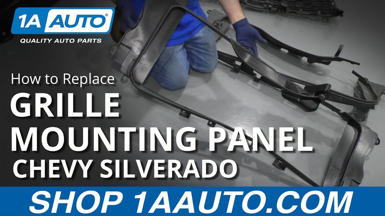 How to Replace Grille Mounting Panel 14-17 Chevy Silverado