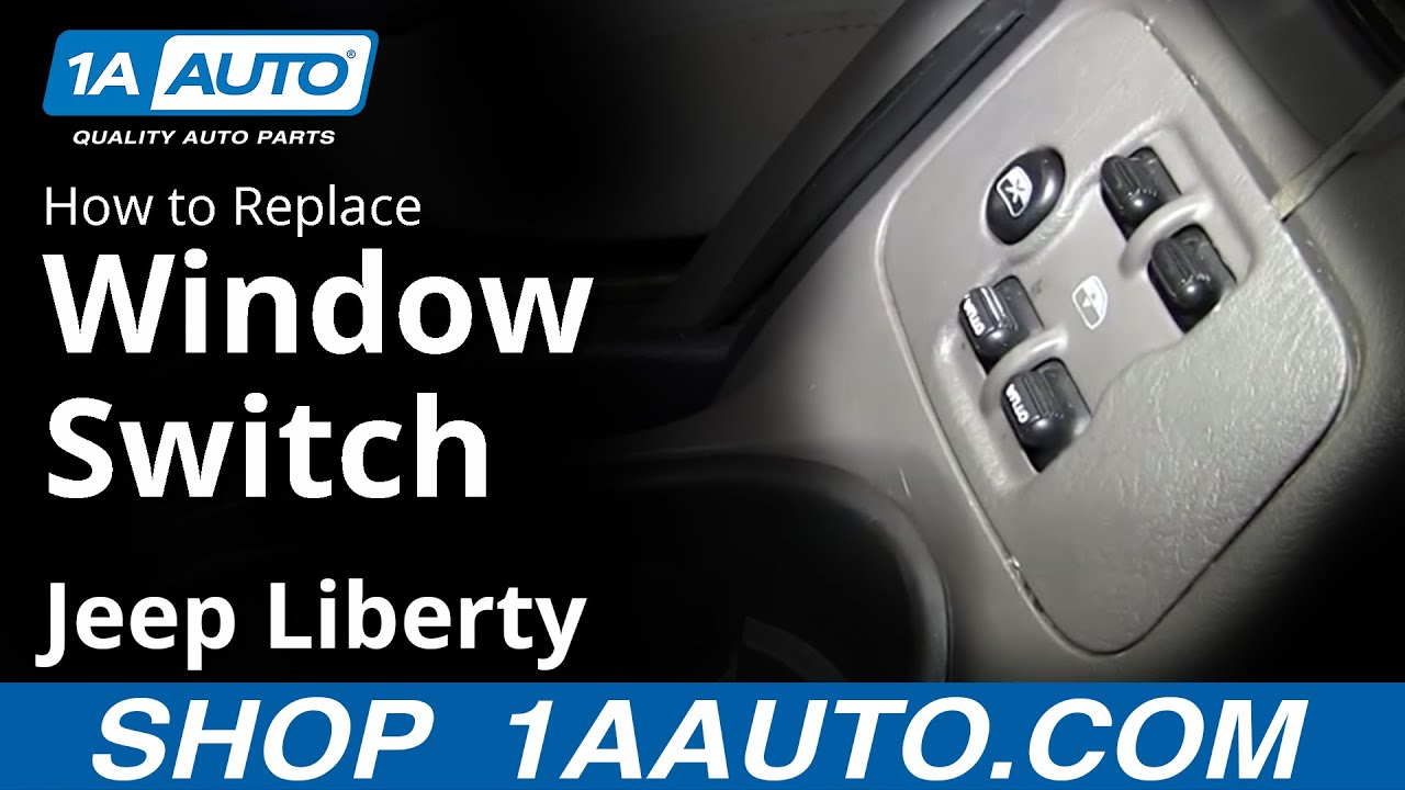 How To Replace Power Window Switch 04 Jeep Liberty