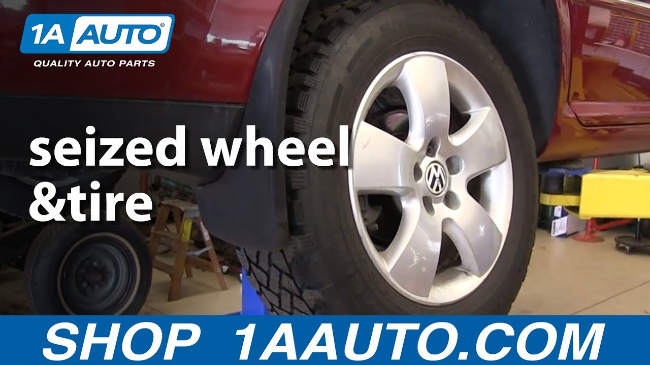 How to Remove a Seized Wheel - Lug Nuts Are Off But Wheel Is Stuck!