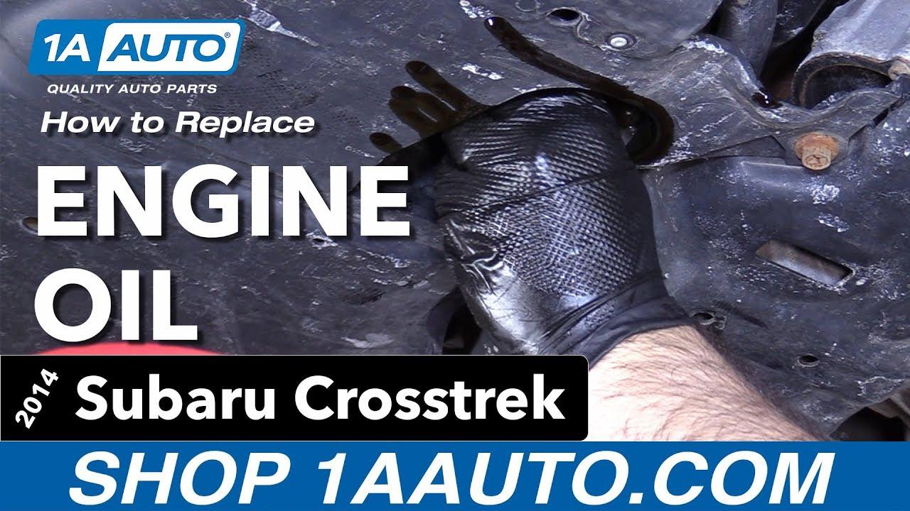 How to Perform Oil Change 14-17 Subaru Crosstrek