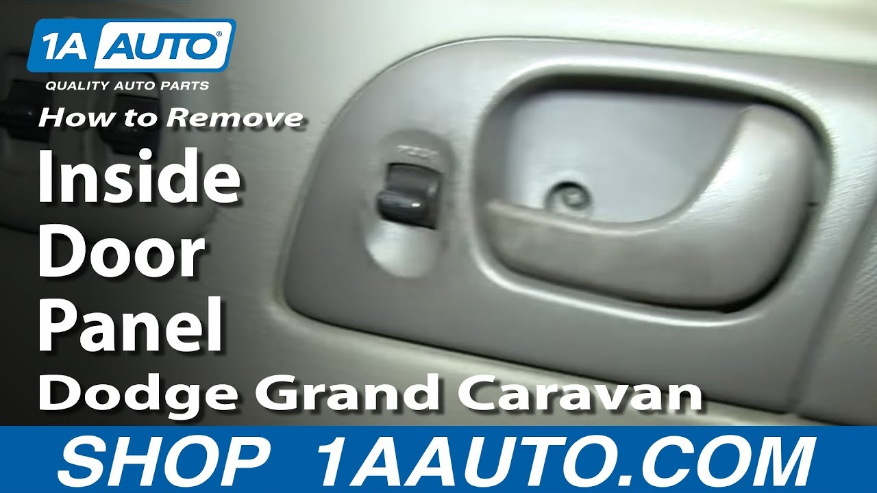 How To Remove Door Panel 02-07 Dodge Grand Caravan
