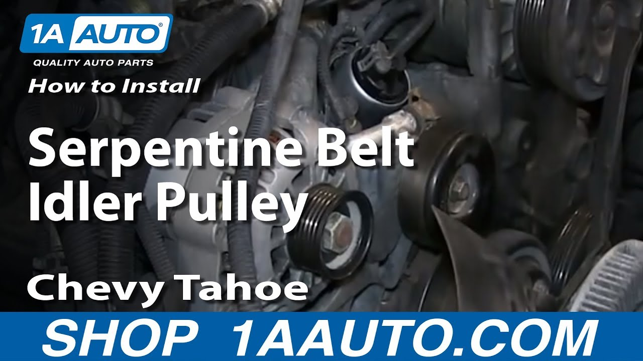 How to Replace Serpentine Belt Idler Pulley 96-08 Chevy Tahoe