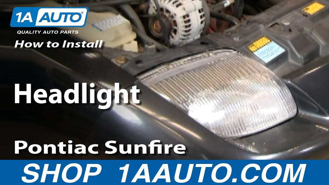 How To Install Replace Headlight Pontiac Sunfire 95-02 1AAuto.com