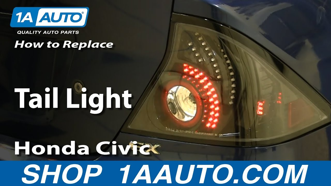 How to Replace Tail Light 01-05 Honda Civic