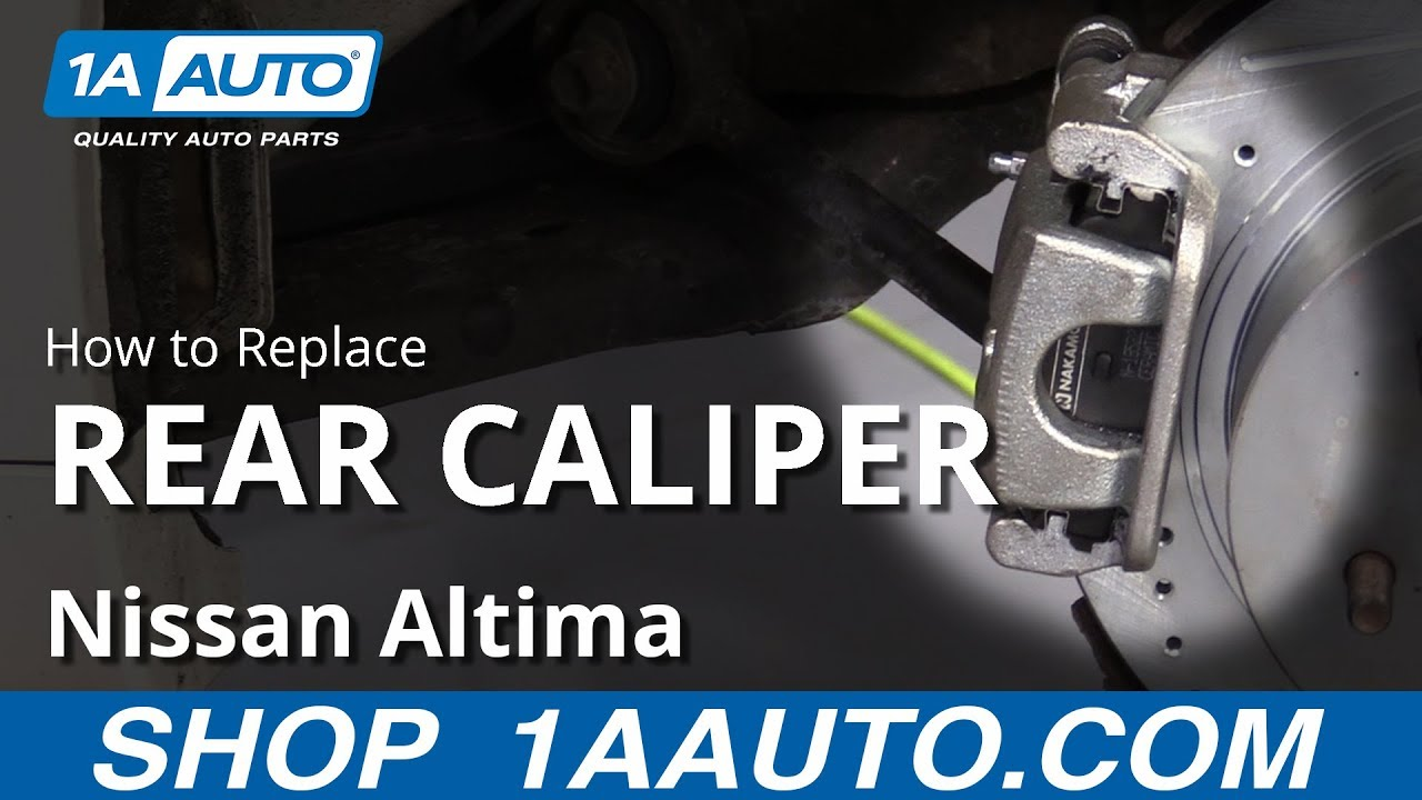 How to Replace Rear Caliper 06-12 Nissan Altima