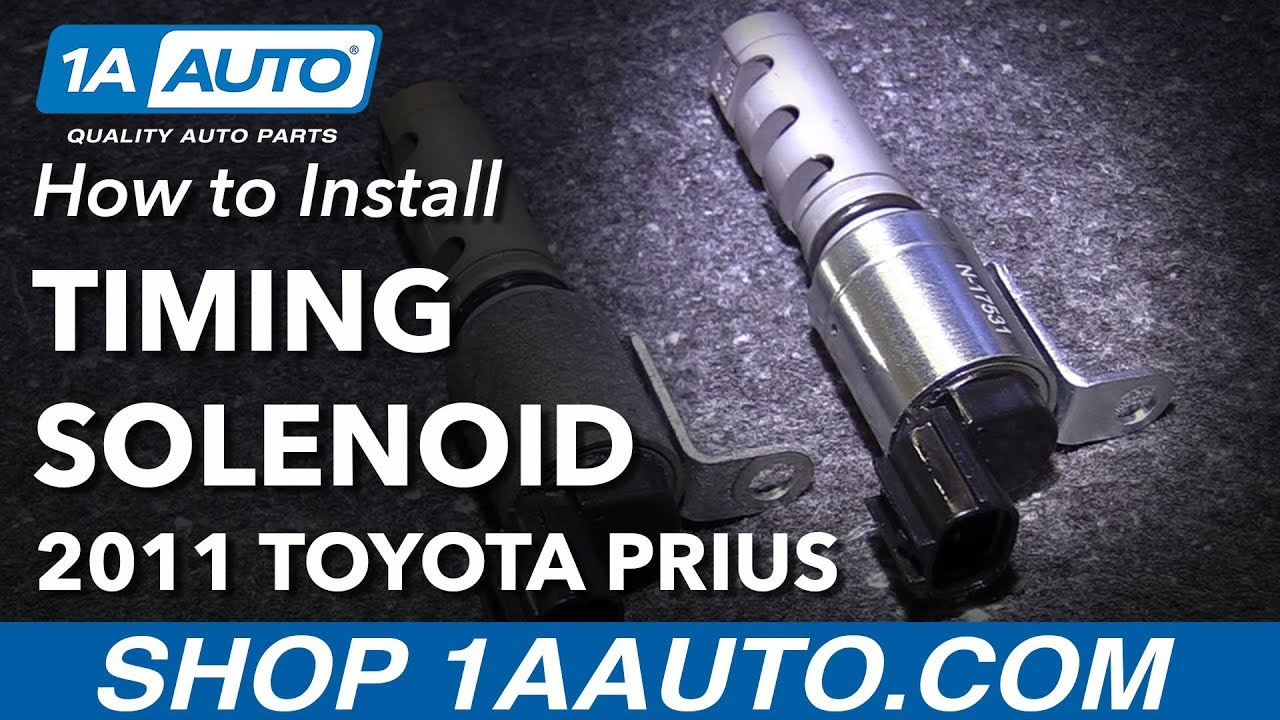 How to Replace Intake Variable Valve Timing Solenoid 10-14 Toyota Prius