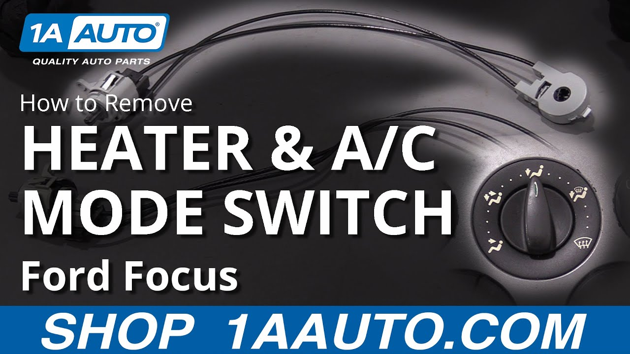 How to Replace Heater & A/C Mode Switch 00-07 Ford Focus