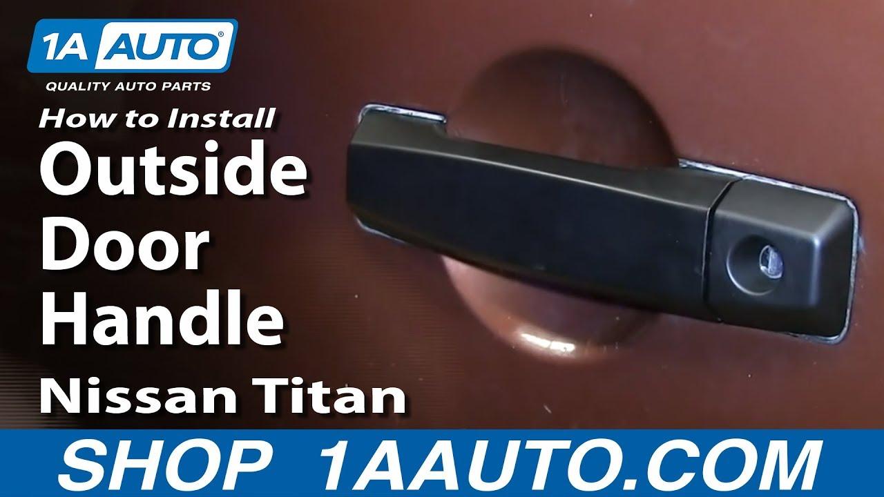 How to Replace Exterior Door Handle 04-15 Nissan Titan