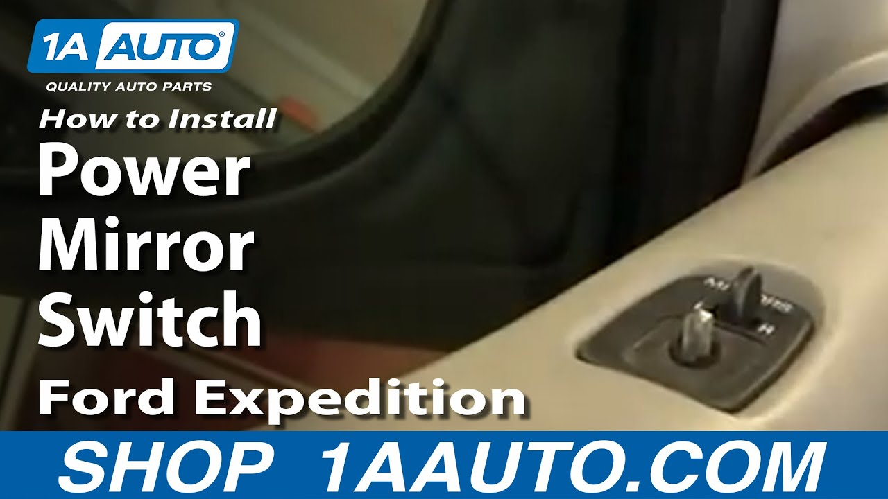 How To Replace Power Mirror Switch 97-03 Ford Expedition