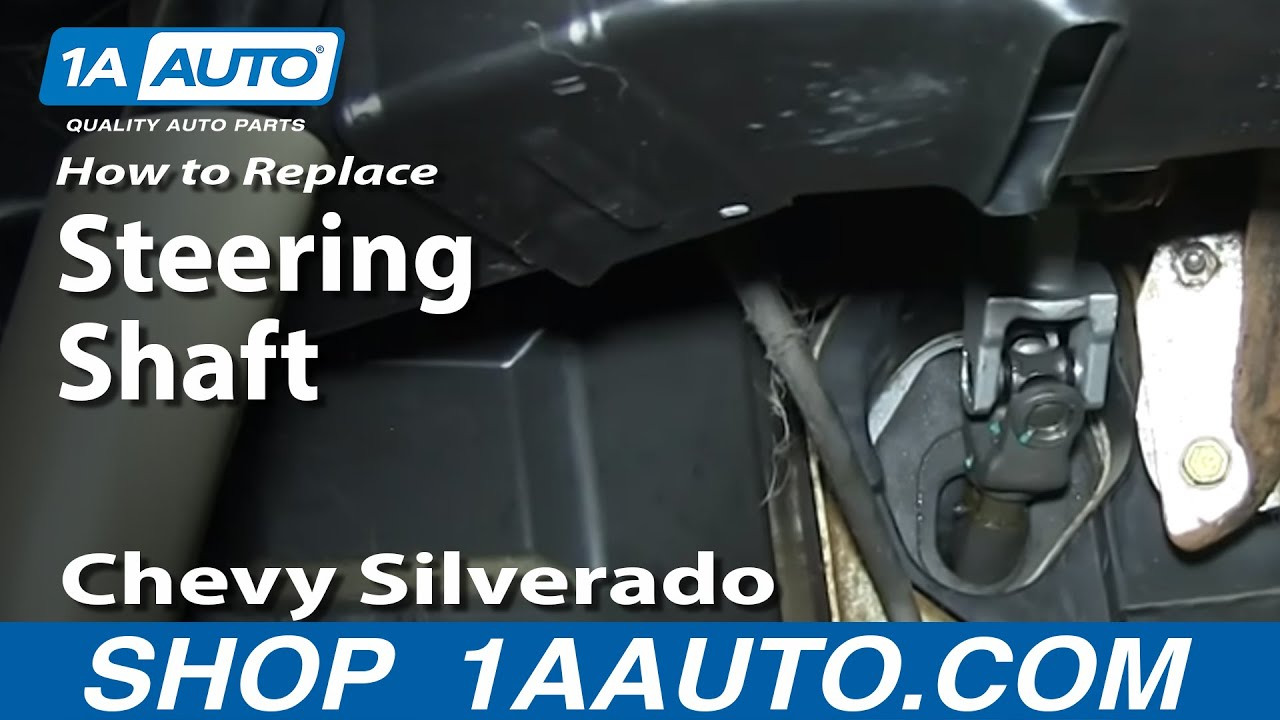 How to Replace Intermediate Steering Shaft 99-06 Chevy Silverado