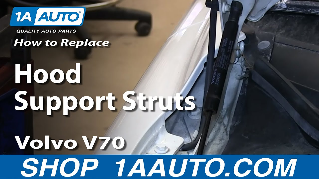 How To Install Replace Sagging Hood Support Struts 1999-08 Volvo V70