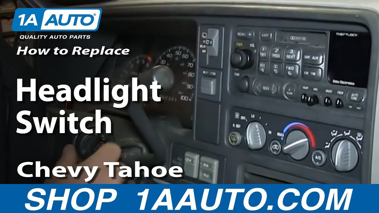 How to Replace Headlight Switch 95-00 Chevy Tahoe