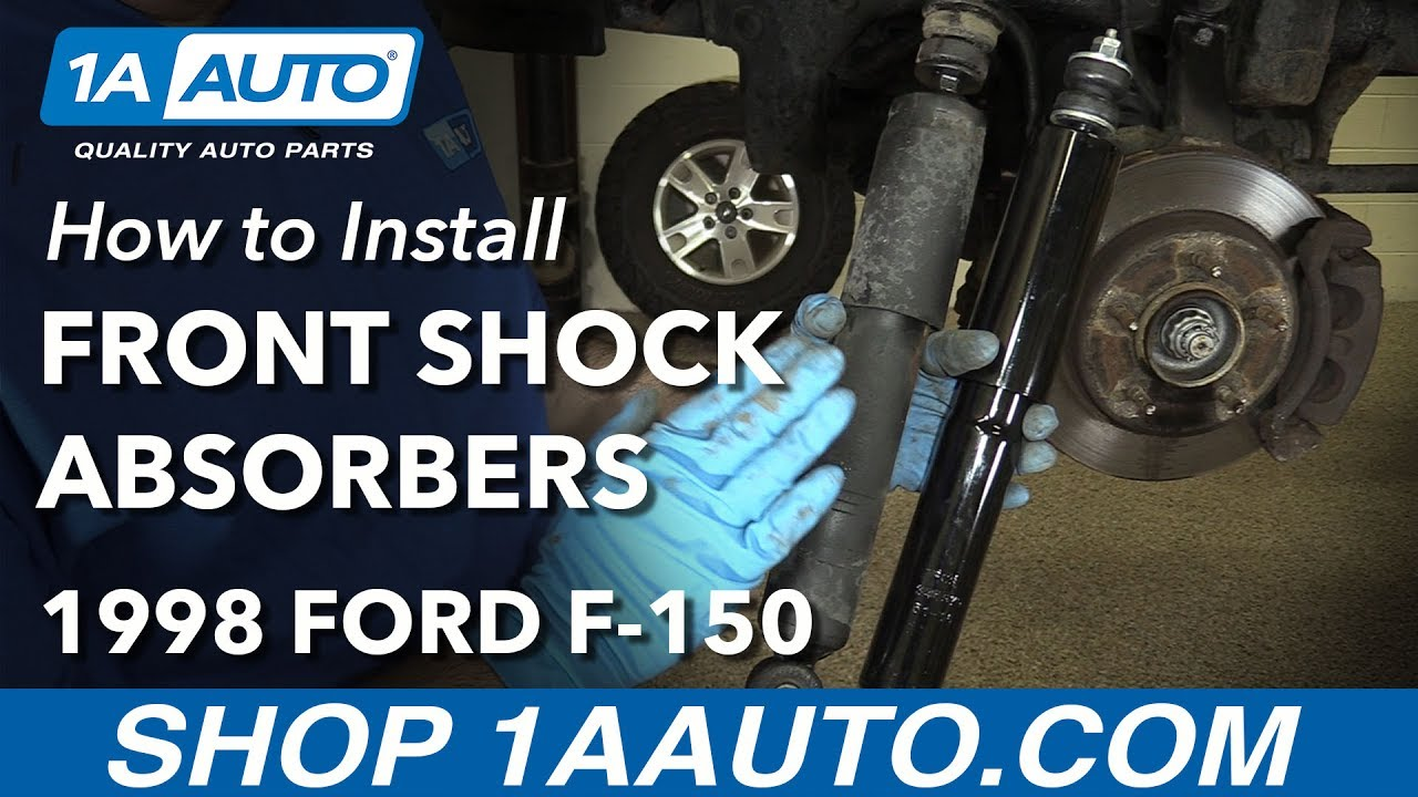 How To Replace Front Shock Absorbers 97-03 Ford F150 4x4