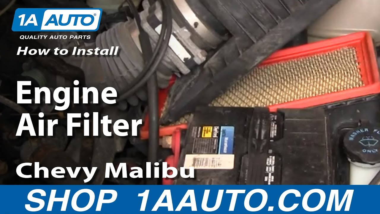 How To Replace Engine Air Filter 97-03 Chevy Malibu