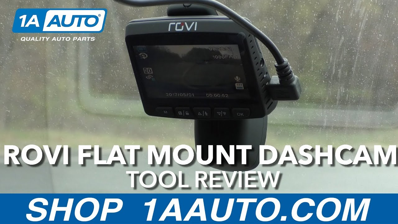 Rovi Flat Mount Dashcam - Available at 1AAuto.com