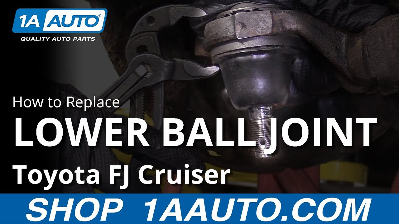 How to Replace Lower Ball Joint 07-14 Toyota FJ Cruiser