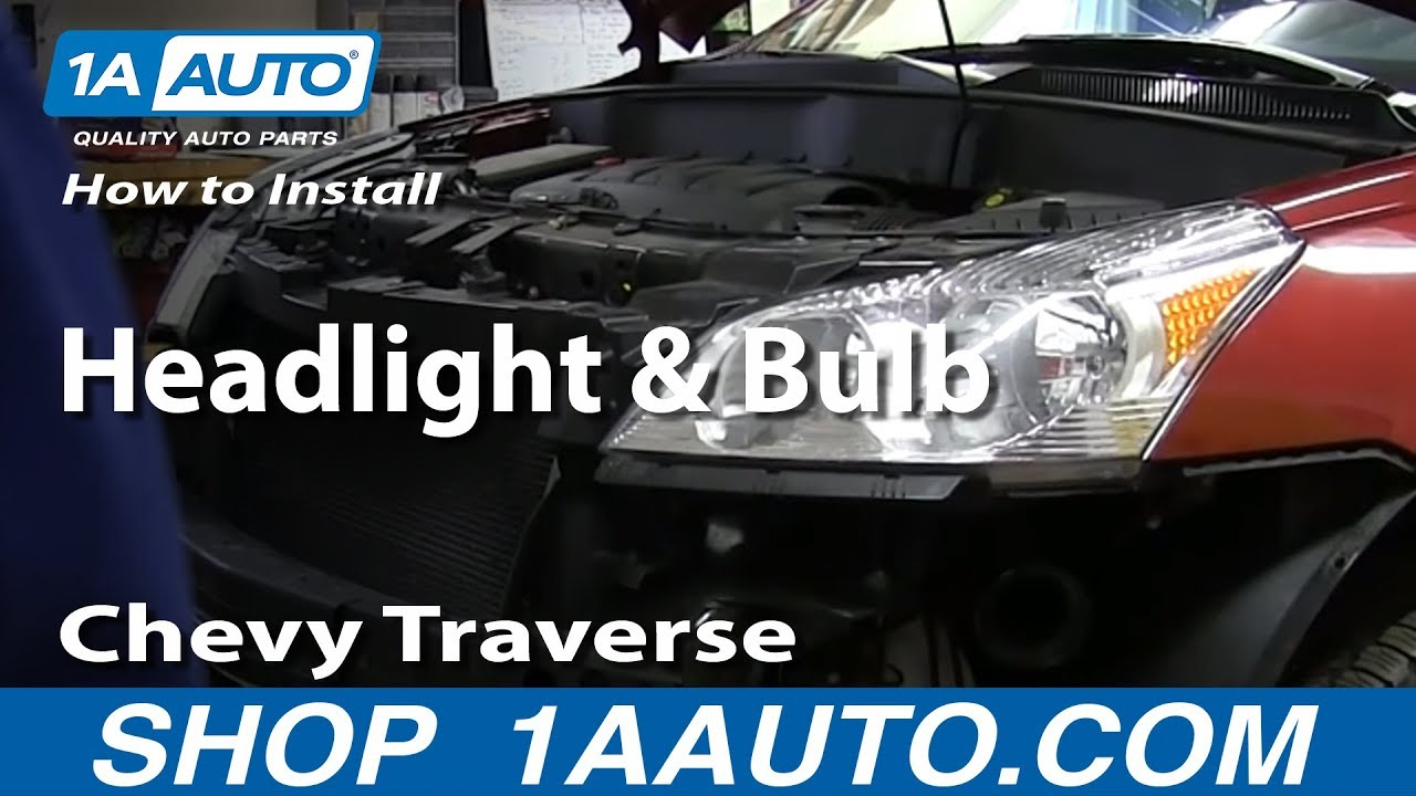 How To Replace Headlight and Bulb 09-12 Chevy Traverse | 1A Auto  Bulb Lamp Wiring Diagram Utube on hid kit wiring diagram, light wiring diagram, ballast wiring diagram, 2 bulb lamp wiring diagram, light bulb diagram, incandescent bulb diagram, 3 way bulb diagram, 6 bulb lamp wiring diagram, 4ft 4 bulb fluorescent fixture wiring diagram, h4 halogen headlight wiring diagram, lamp socket diagram, lamp parts diagram, 3 bulb t12 ballast diagram, led light parts diagram, number pin connector wiring diagram, hid headlight conversion wiring diagram, fluorescent fixtures t5 circuit diagram,