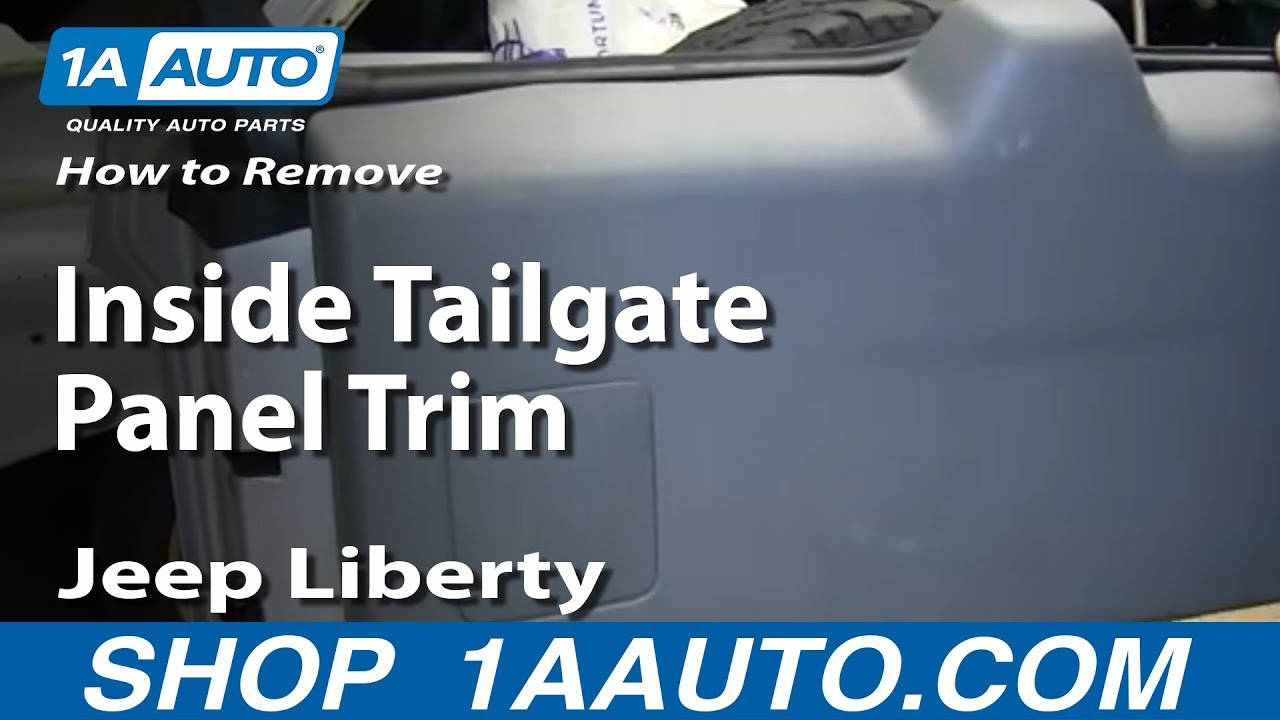 How To Remove Inside Tailgate Panel Trim 02-07 Jeep Liberty