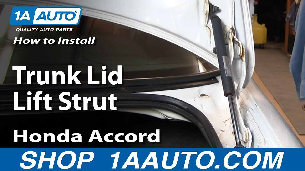 How To Replace Trunk Lid Lift Strut 94 97 Honda Accord