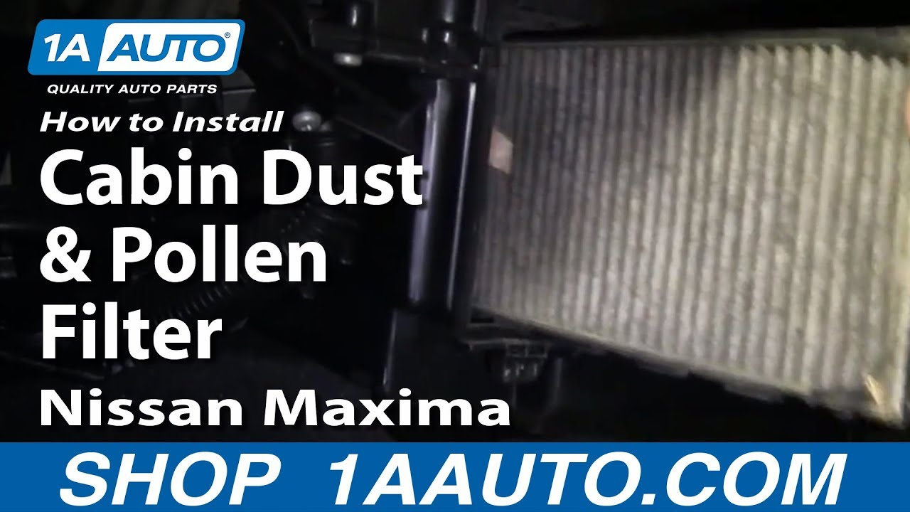 How to Replace Cabin Air Filter 00-03 Nissan Maxima