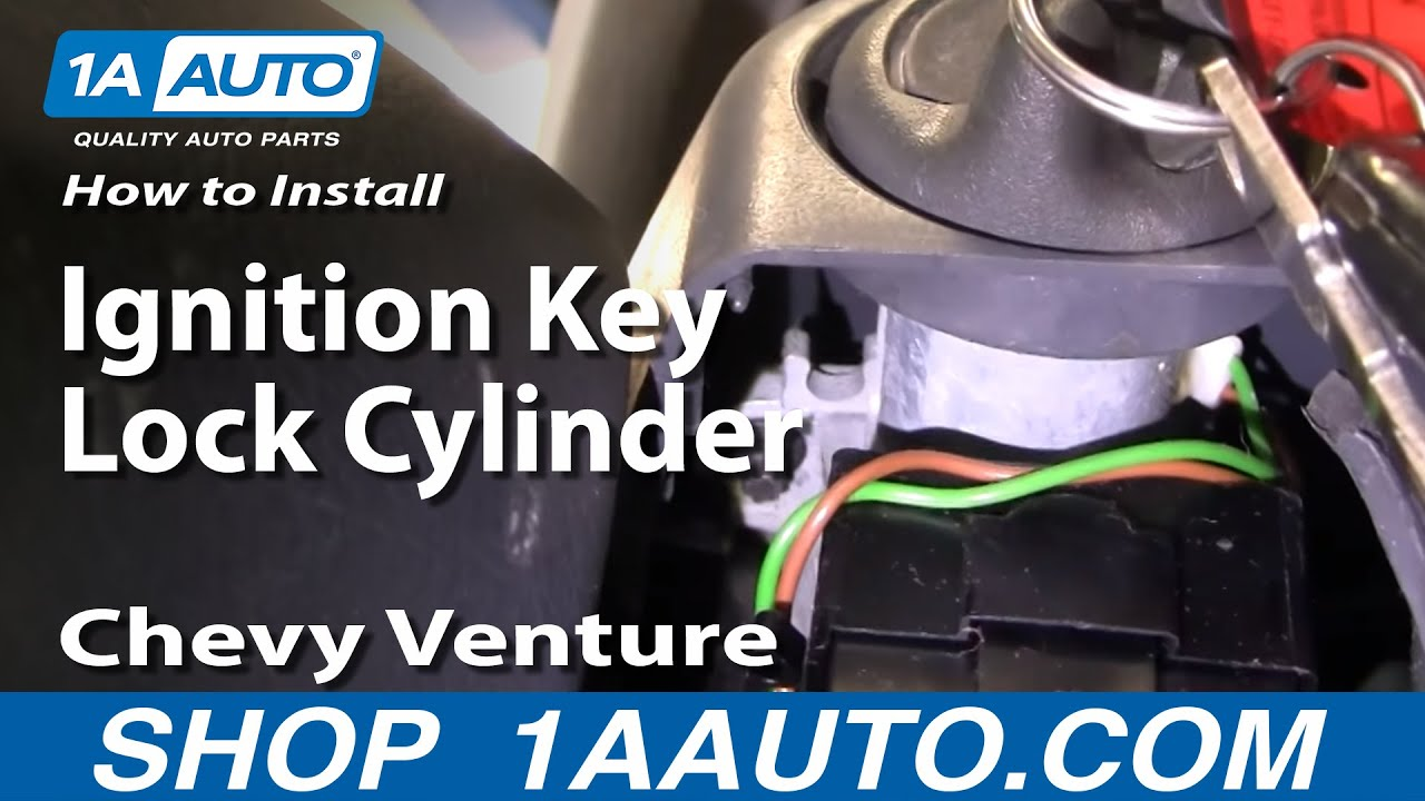 How to Replace Ignition Key Lock Cylinder 97-98 Chevy Venture