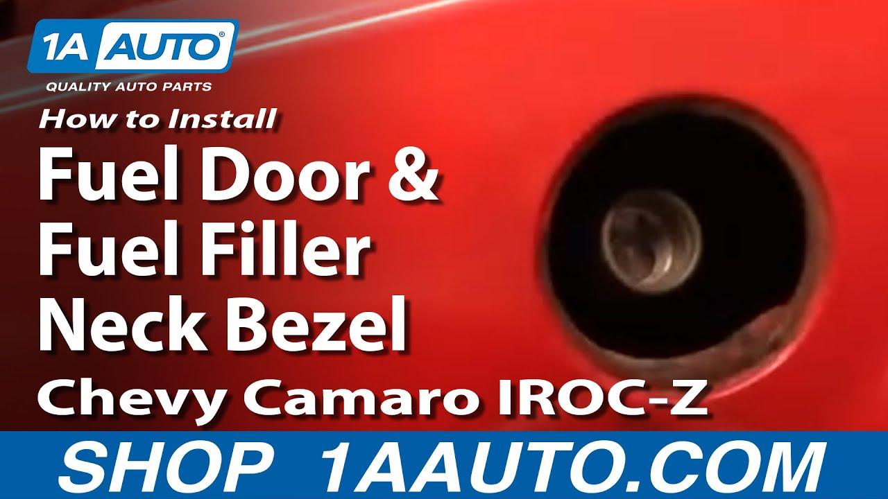 How to Replace Fuel Door and Fuel Filler Neck Bezel 82-92 Chevy Camaro IROC-Z