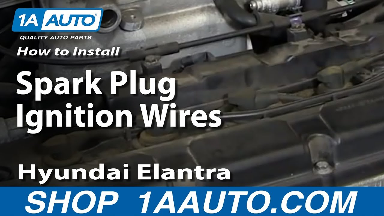 How To Replace Spark Plug Ignition Wires 01-06 Hyundai Elantra How To Replace Spark Plug Wires on replace pilot bearing, replace wheel bearings, replace axle bearings, replace crankshaft bearings, replace battery, replace front bearings,