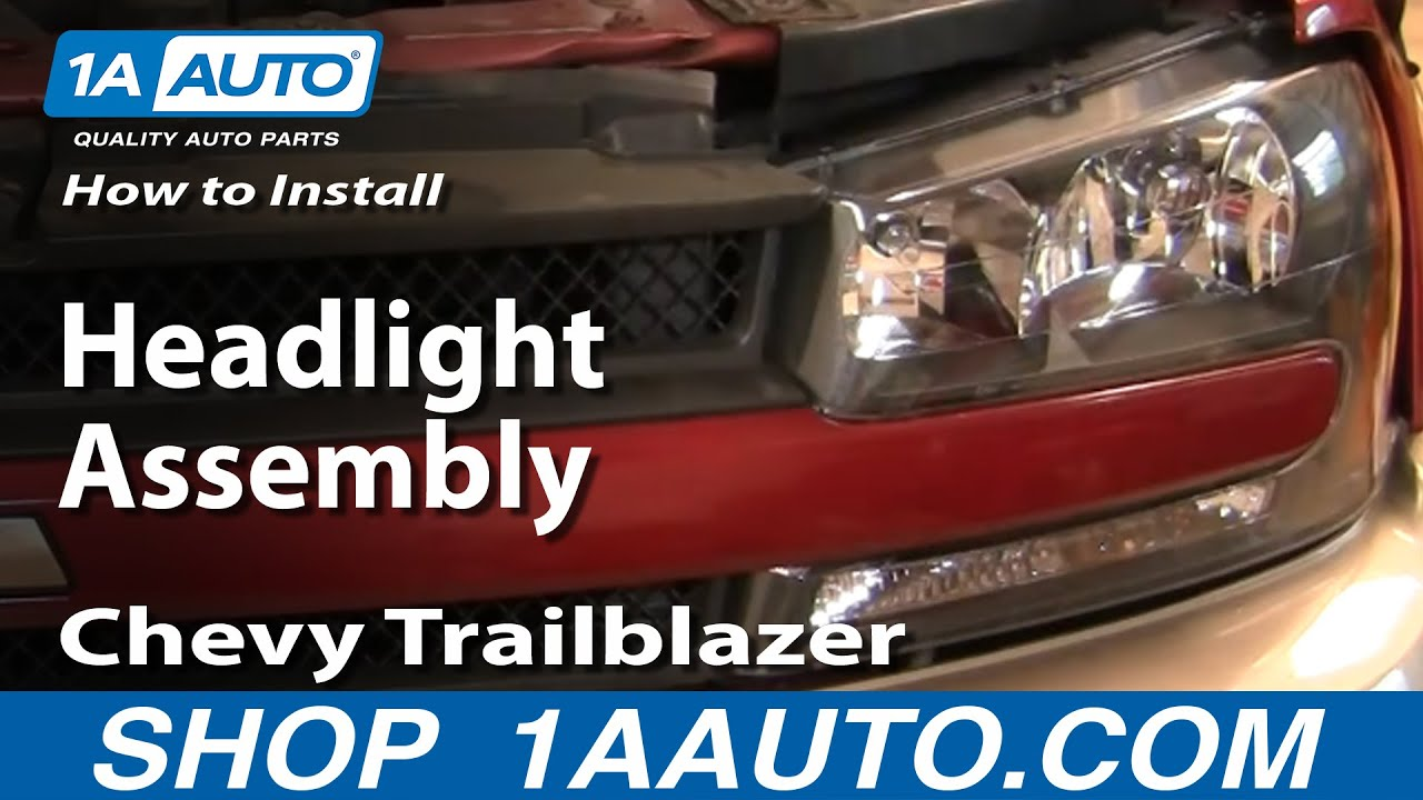 how to replace headlight assembly 02 05 chevy trailblazer 1a auto2004 Chevy Trailblazer Headlights Wiring Diagram #9