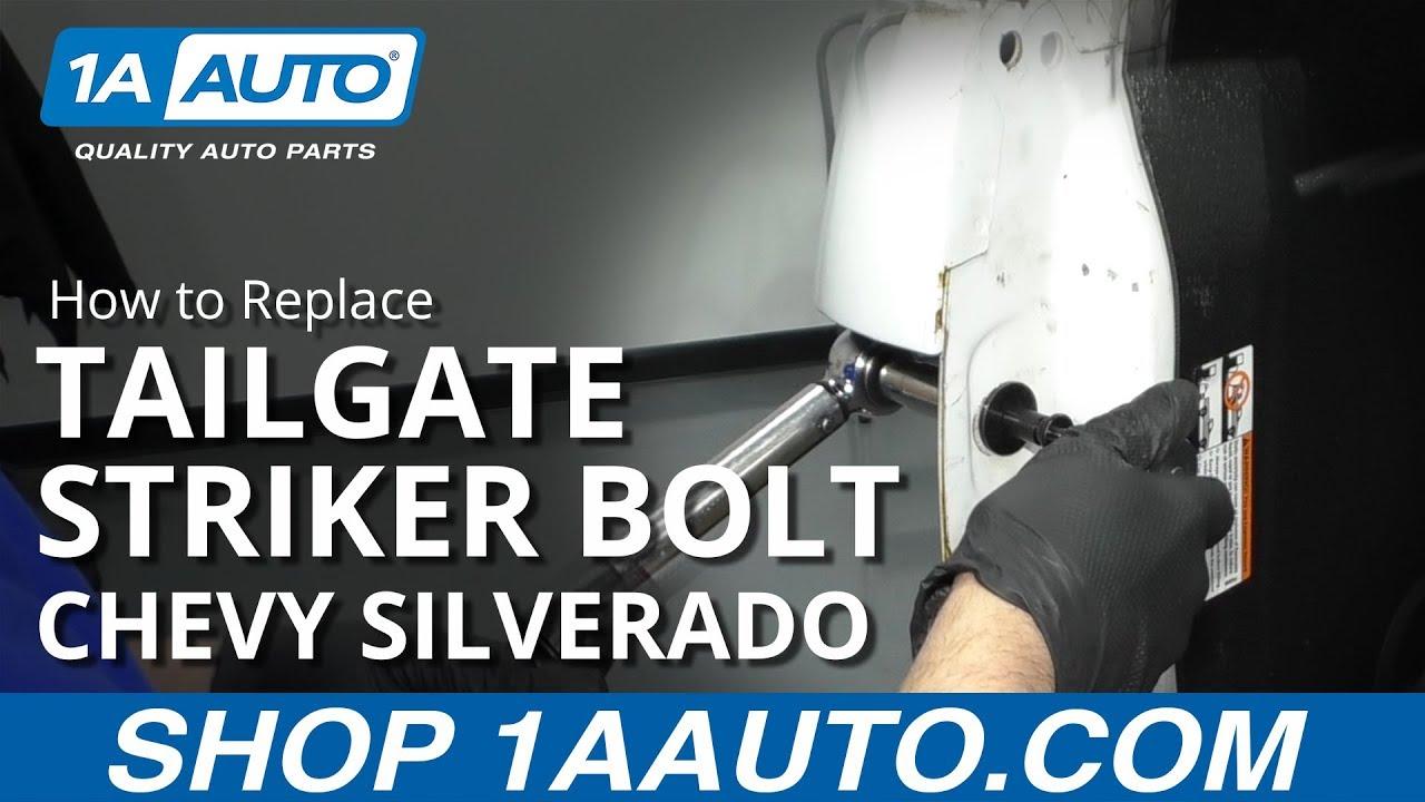 How to Replace Tailgate Striker Bolt 99-13 Chevy Silverado