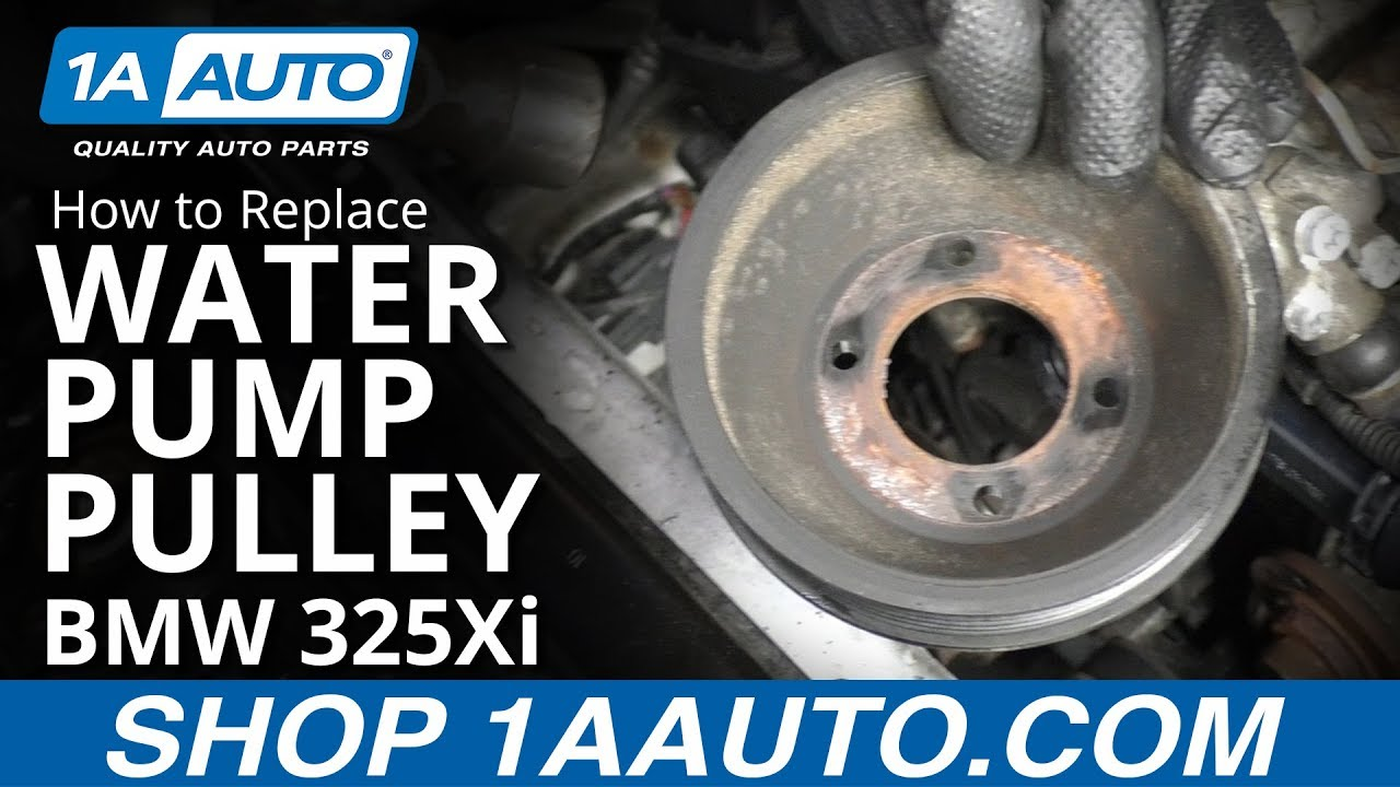 How to Replace Water Pump Pulley 01-05 BMW 325Xi