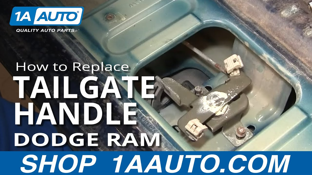 How to Replace Tailgate Handle 02-08 Dodge Ram 1500
