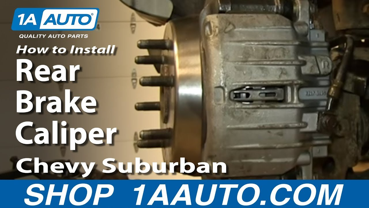 How To replace Rear Brake Caliper 00-06 Chevy Suburban