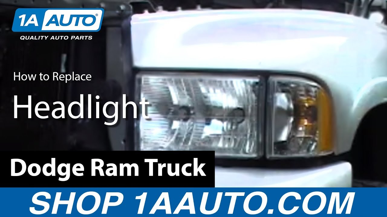 How to Replace Headlights 94-01 Dodge Ram 1500