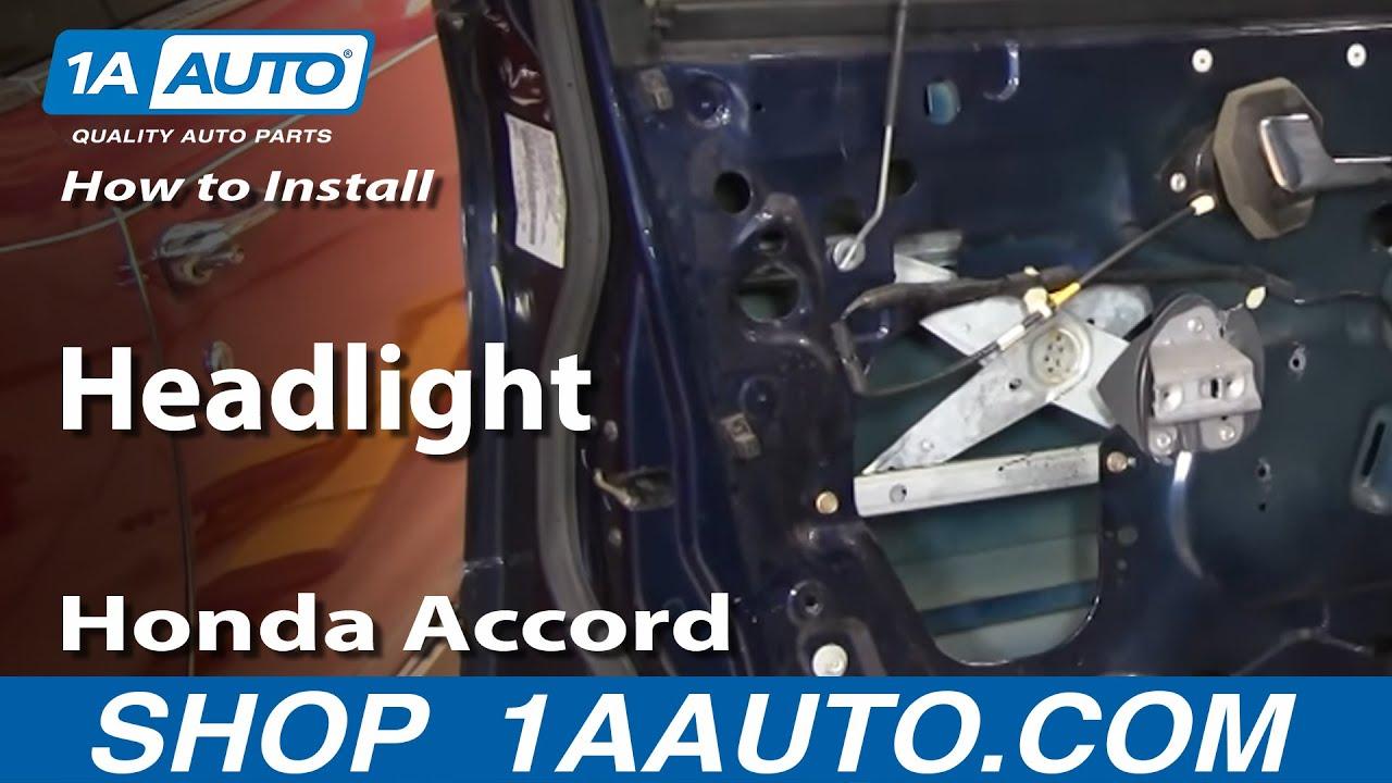 How To Replace Headlight 94 97 Honda Accord