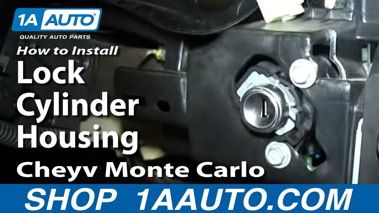 How to Replace Ignition Lock Cylinder Housing 00-05 Chevy Monte Carlo