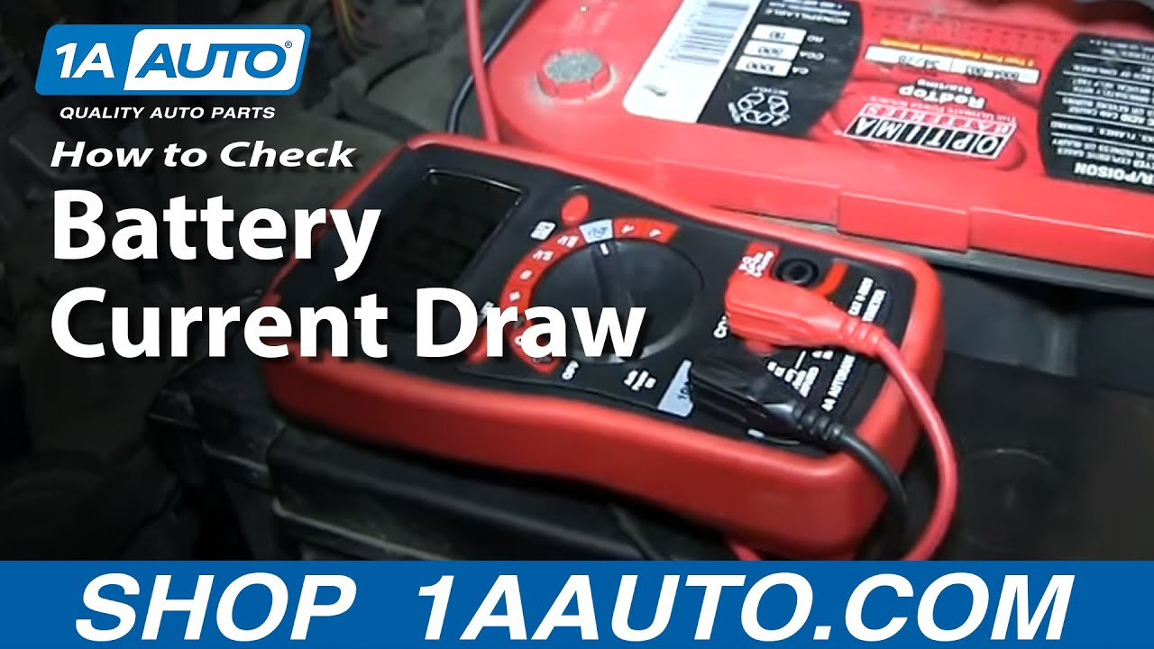 How To Perform a Battery Current Draw And Locate Problems