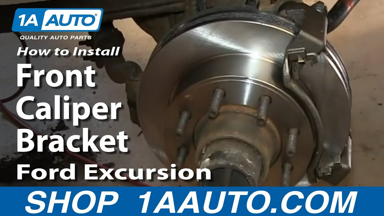 How to Replace Disc Brake Caliper Bracket 00-05 Ford Excursion